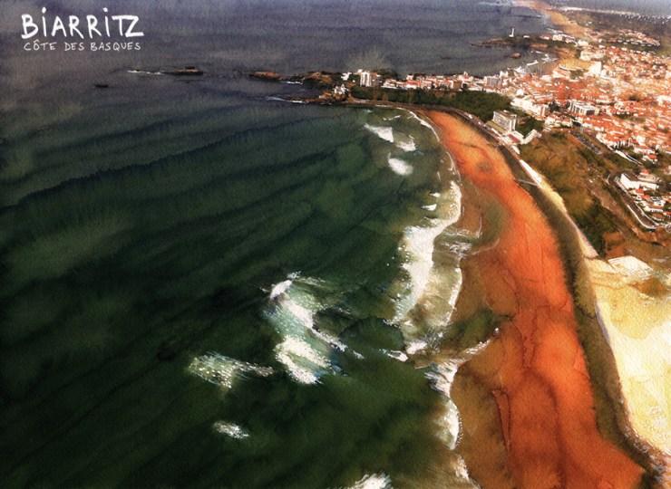 Surf art: Biarritz / Cote des Basques