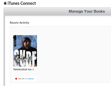 iTunes Connect status for Travelogue 1