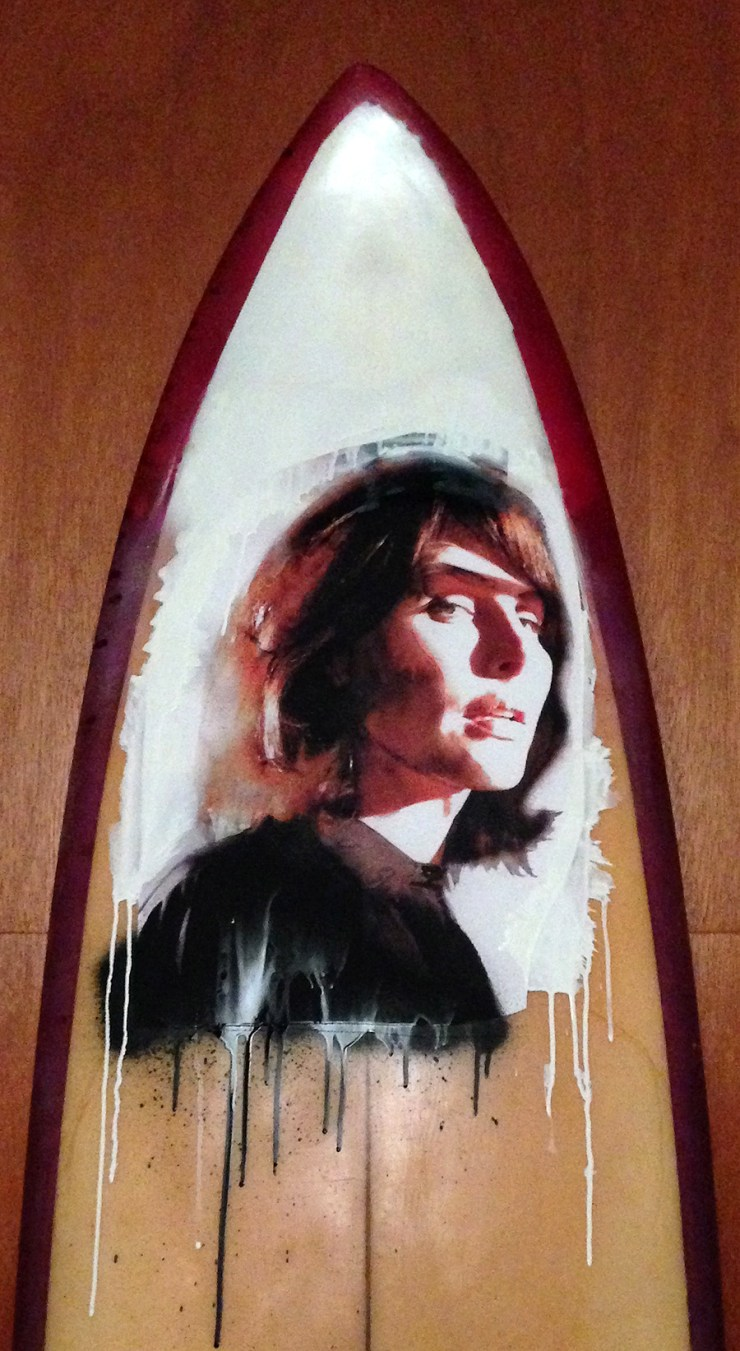 Surfboard art by Jean Tripier