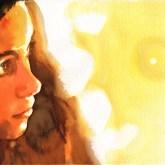 Watercolor portrait and composition technique