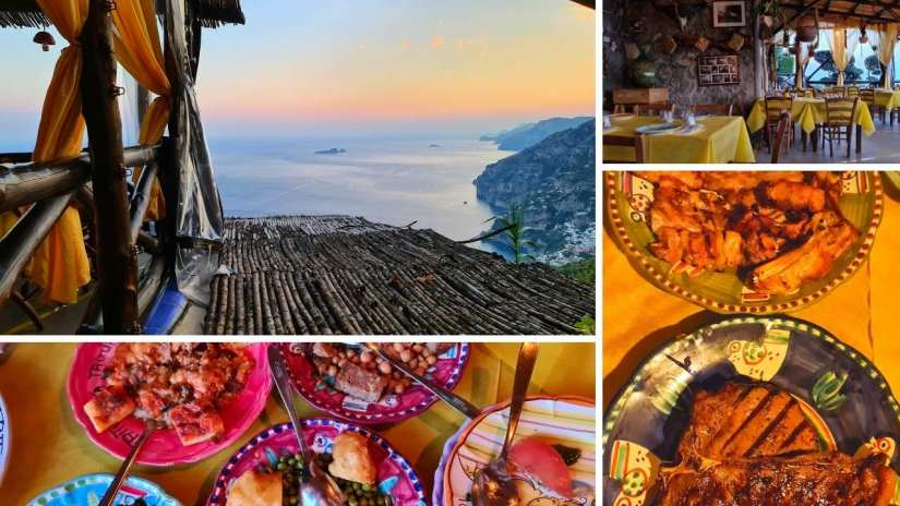 Top 3 Best restaurants in Positano Italy with a view la tagliata positano