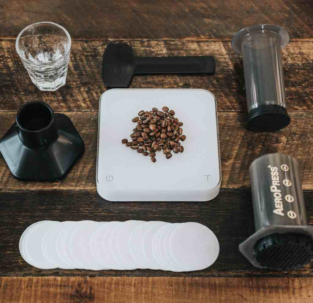 Everything you need to make Aeropress coffee
