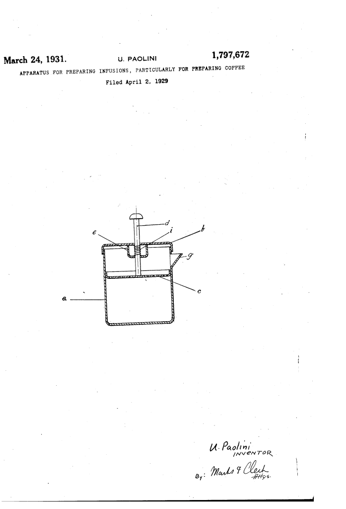 French Press Patent