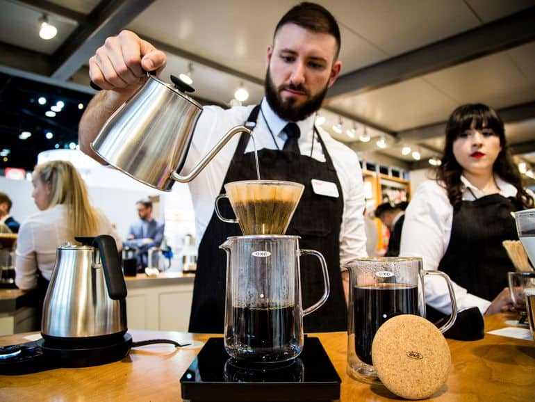 Pour over in coffee shop