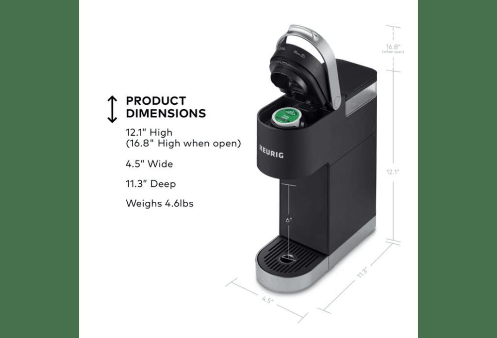 Keurig K-Mini Plus Dimensions