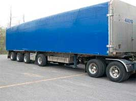 4 axle SPIF Sliding Tarp System - Triple K Transport