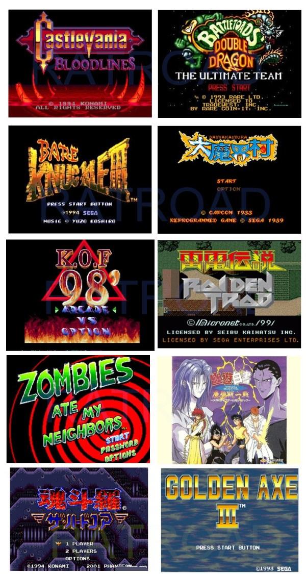 Mega Drive 10-in1 games list