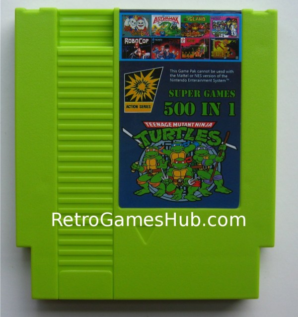 500 in 1 NES cartridge