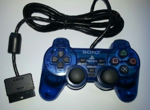 Clear Blue PS2 Controller