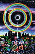 Chakra Girl UV Blacklight Fluorescent Amp Glow In The Dark Psychedelic Visionary Art Poster