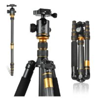 XCSOURCE® Q-666C Professional Photography Carbon Fiber Travel Tripod Monopod Kit & Ball Head For DSLR Camera Canon Nikon Petax Sony LF375