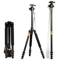 Carbon Tripod, Zomei [Professional] Carbon Fiber Tripod DSLR Camera Tripod [Carbon Monopod] and [Ball Head] Portable with bag [Compact] [Lightweight] Travel up to 15kg - Z668C