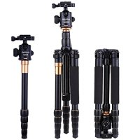 "REPPO Professional DSLR Camera Tripod Aluminium Monopod With 360°Degree Ball Head 1/4"" Quick Release Plate and Carry Case For Digital/Video/DSLR Cameras - 15KG Max Load (Q888)"