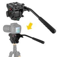 Kamisafe® KINGJOY VT-3510 Heavy Duty Video Camera Tripod Action Fluid Drag Head with Sliding Plate for Canon Nikon Sony DSLR Camera Camcorder Shooting Filming