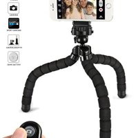 Tripod for iphone Tripod stand kungfuren cell phone tripod flexible tripod for iphone 7 plus ipad tripod for iphone 6s plus with Remote Shutter for Android iOS Phone Ipad Tablet Digital Camera Gopro