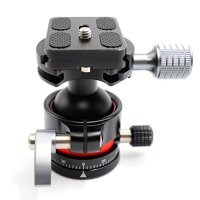 koolehaoda E2 mini Tripod Head Ballhead with Quick Release Plate. Net weight only 240G,Maximum load: 12KG.(E2 ballhead)