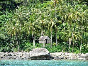 Island near Pulau Karimata, Indonesia