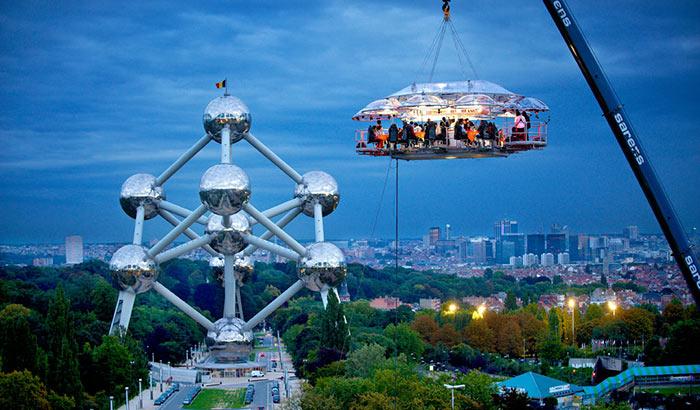 Dinner in the Sky in Brussels