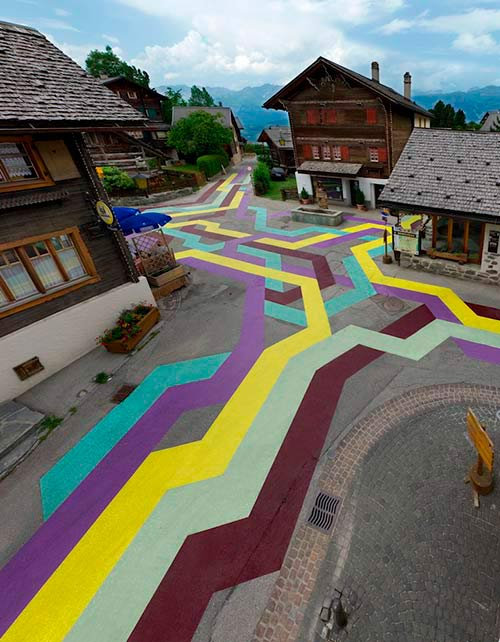 Geometric Streets in Vercorin, Switzerland