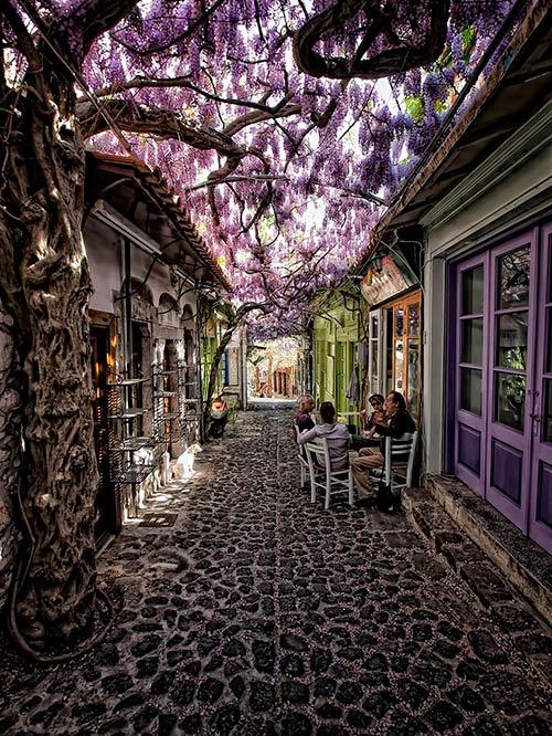 Molyvos Street, Lesvos, Greece