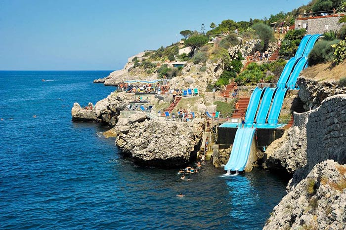 Scenic Water Slide at Citta Del Mare Holiday Village, Italy