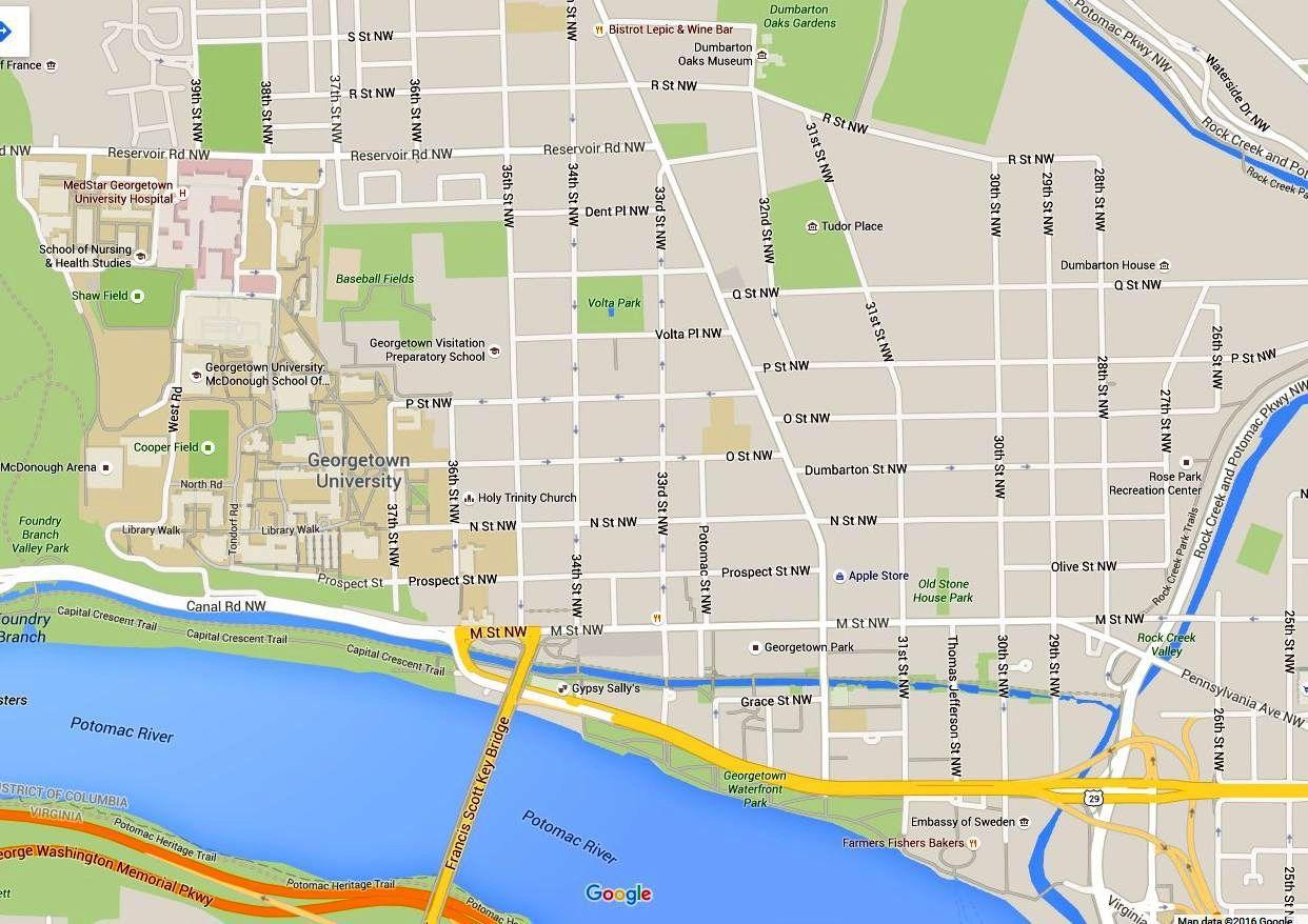 Washington D C Map Of Georgetown