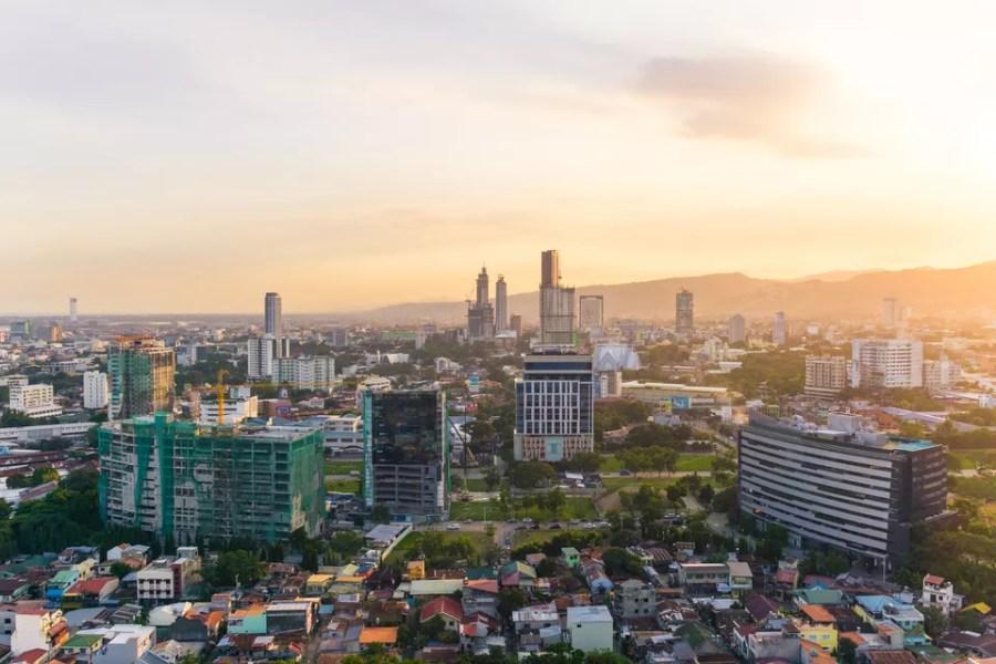 Cityscape Against Sky During Sunset Philippines, Cebu City