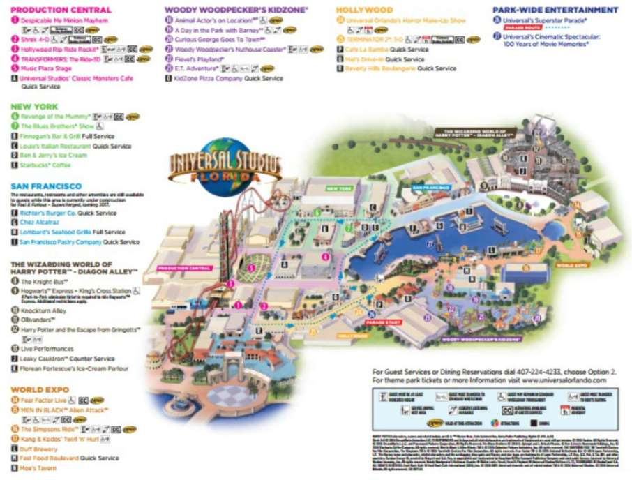 Image result for universal studios orlando map 2018