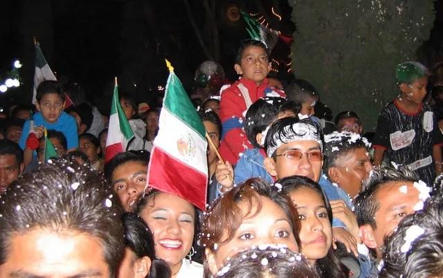A Crowd Enjoying el Grito