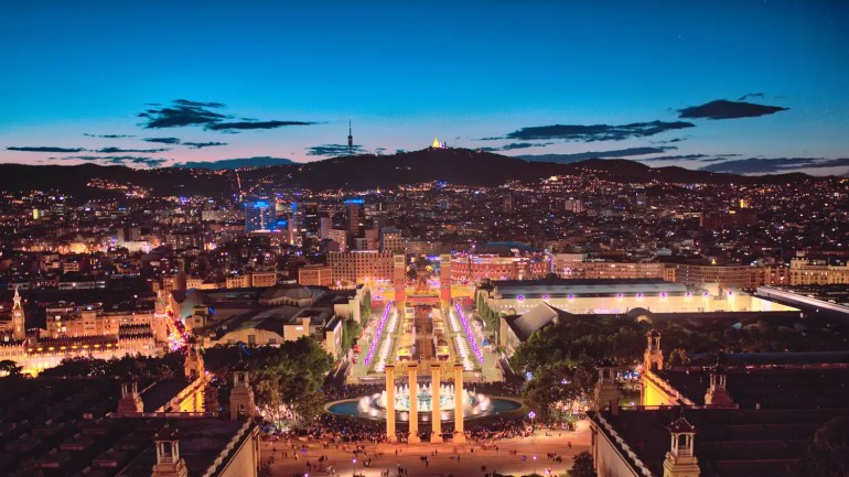 Barcelona, Spain skyline