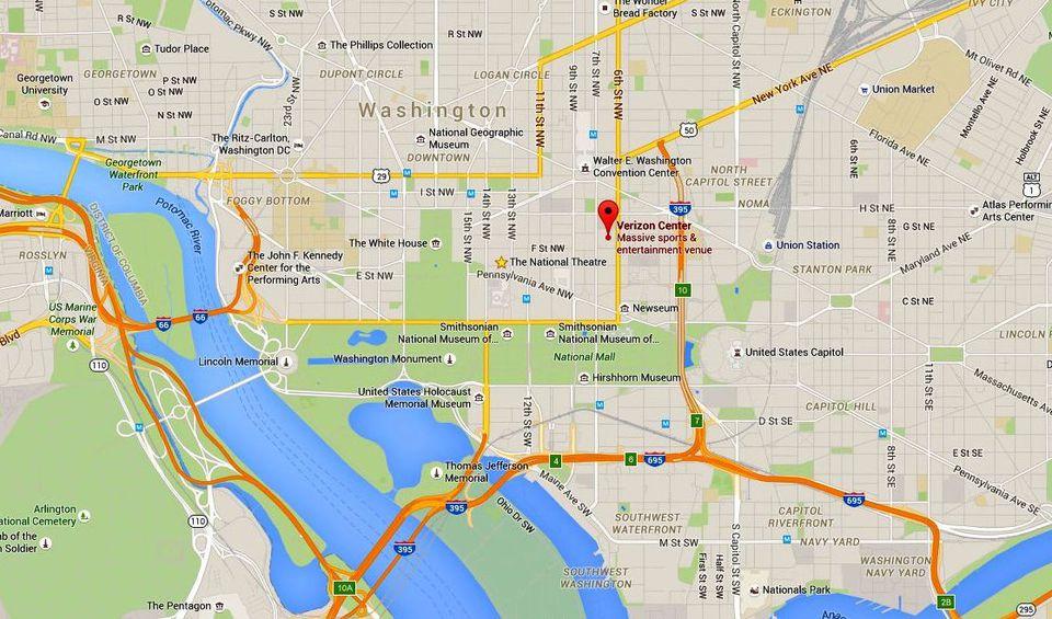 Closest Restaurants Verizon Center