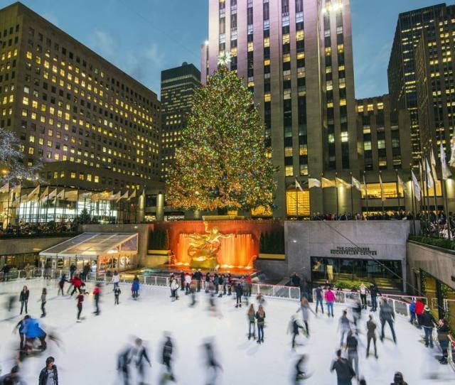 Usa New York New York City Manhattan Lower Plaza Of Rockefeller Center