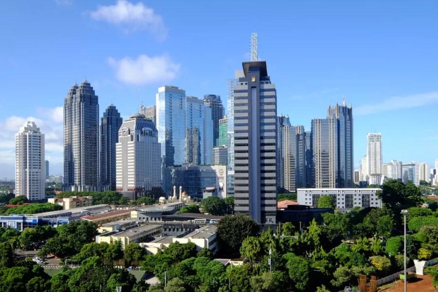 Central Business District of SCBD, Jakarta Skyline.