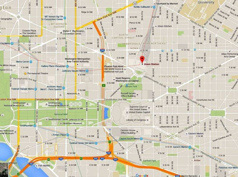 Union Station Map and Directions  Washington DC Driving Directions to Union Station  Union Station Map