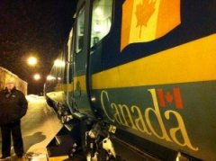 The train makes a few stops along the way between Moncton and Montreal.