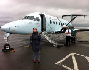 As we left Moncton Airport on our way to Newfoundland we felt like we had a private jet, the thing was so small!
