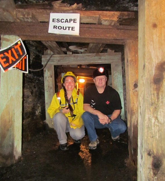 Russell & DD deep in the Coal Mine