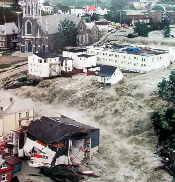 Aerial View of Saguenay Flood