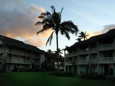 The Resort Quest Islander on The Beach at Sunset. We loved this place and gave it our best rating!