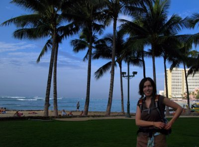 We explored Waikiki Beach on our stop-over on Oahu. This is the kind of January we rarely see back in Canada!