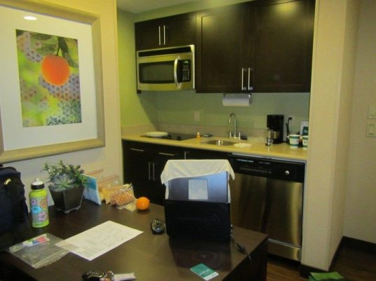 Kitchen at Homewood Suites Orlando Airport