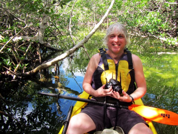 Kayaking in the mangrove trails of Pennekamp Coral Park