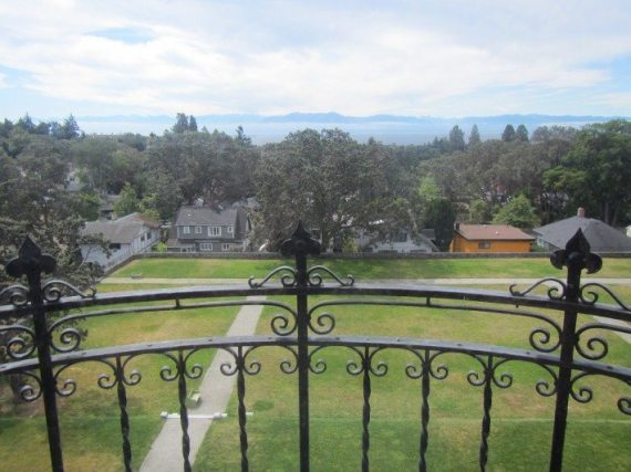 The Beautiful view of the Washington Mountains from Craigdarroch Castle In Victoria, British Columbia.