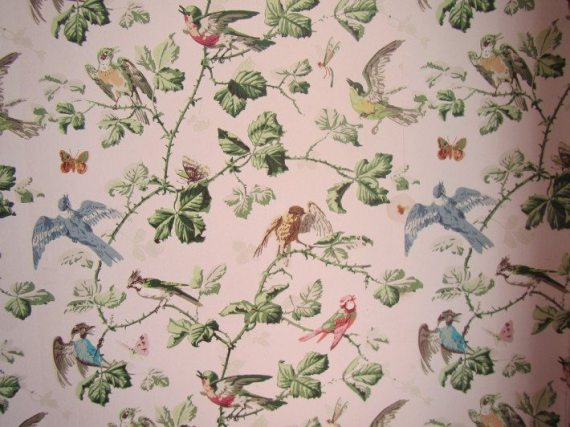 The Wallpaper in one of the rooms at Verdmont House in Bermuda.