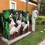 Floridays flamingo electrical box