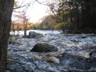 Nova Scotia - Mersey River Chalets - West Branch High Water Level and Rocks