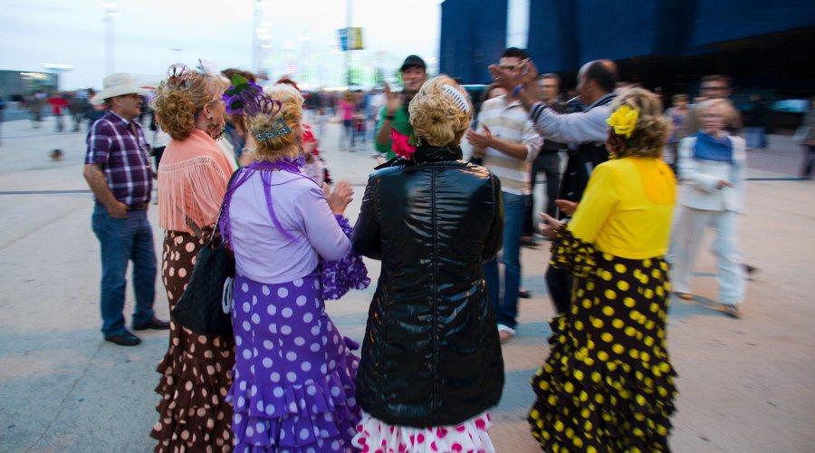Barcelonassa asuu paljon andalusialaisia. Feria de Abril on tärkeä juhla. © tripsteri.fi / Tuulia Kolehmainen