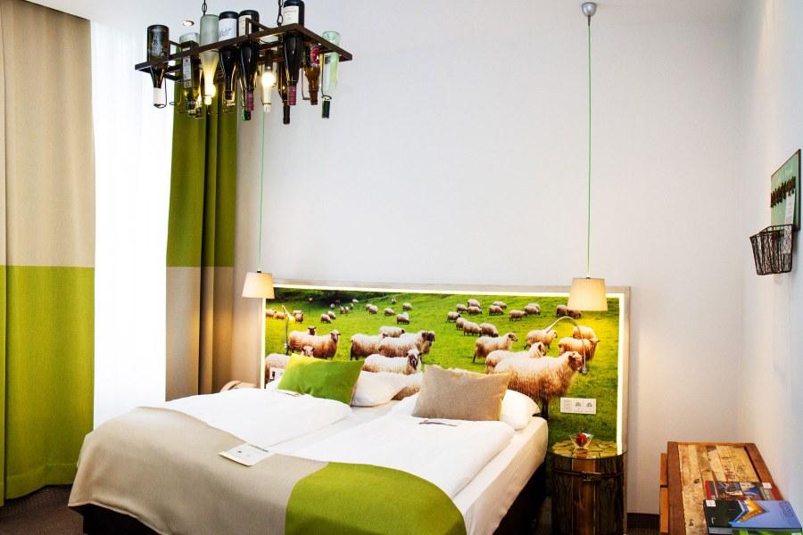 Boutiquehotel Stadthalle on yhdistelmä tyylikkyyttä ja ympäristöystävällisyyttä. Kuva: Barbara Saas / Boutiquehotel Stadthalle