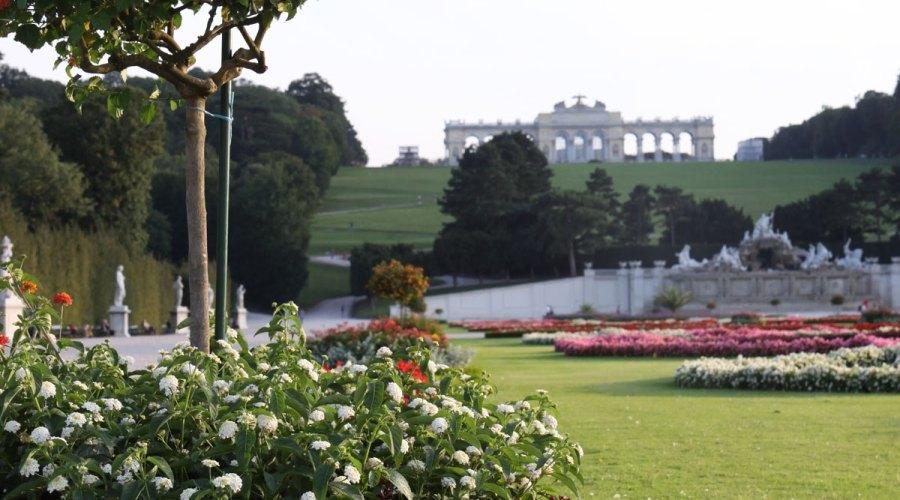 Schönbrunnin ja Belvederen palatsien puistot ovat tiukassa trimmissä. Kuva: Elina Raittila