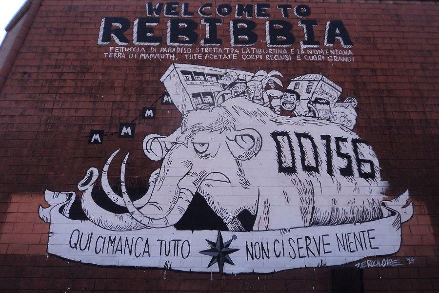 Zerocalcaren murales Rebibbian asemalla © Nicholas Frisardi Flickr CC